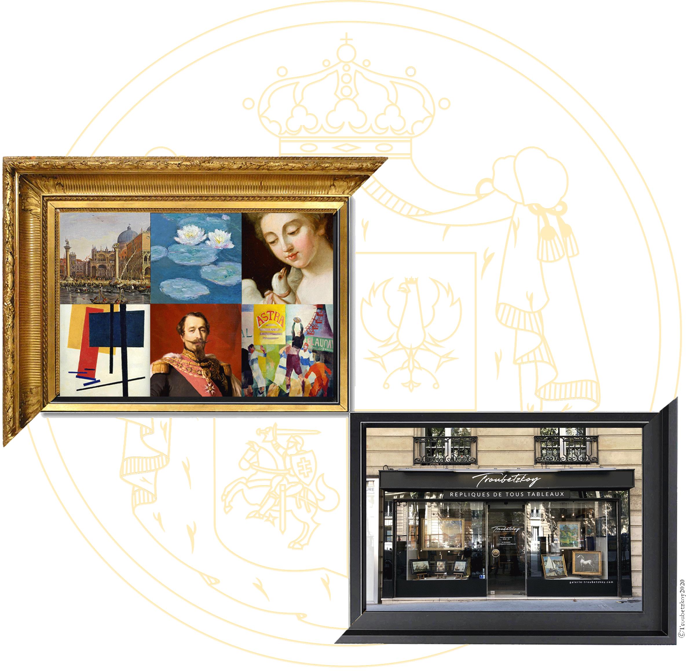 Prix D Un Tableau D Artiste galerie troubetzkoy | répliques de tous tableaux